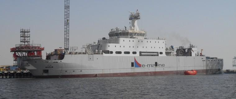 RoRo Carrier MS MOSA Converted into the Cable Layer CS MARAM